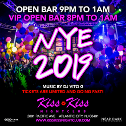 New Year's Eve in Atlantic City at Kiss Kiss Nightclub