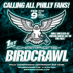 Bird Crawl - Philadelphia Champions Anniversary Bar Crawl