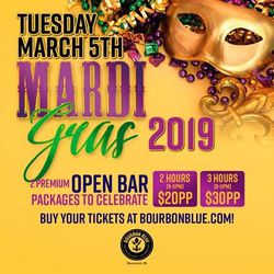 Bourbon Blue Mardi Gras 2019