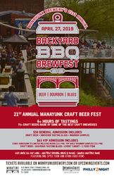 21st Annual Manayunk Backyard BBQ, Bourbon, and Blues Craft Beer Fest