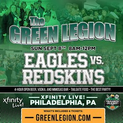 Eagles vs. Redskins - Green Legion Home Game Tailgate Party