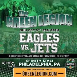 Eagles vs. Jets - The Green Legion Tailgate with Hollis Thomas!
