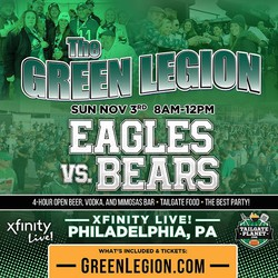 Eagles vs. Bears - The Green Legion Tailgate with Hollis Thomas!