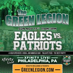 Eagles vs. Patriots - The Green Legion Tailgate with Hollis Thomas!