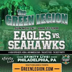 Eagles vs. Seahawks - The Green Legion Tailgate with Hollis Thomas!