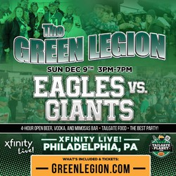 Eagles vs. Giants - The Green Legion Tailgate with Hollis Thomas!