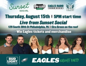 Eagles Game Watching Party at Sunset Social + Alumni & Cheerleaders