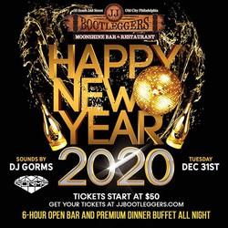 New Years Eve 2020 at JJ Bootlegger's