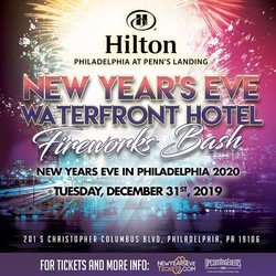 New Year's Eve Fireworks Bash at the Hilton Penn's Landing