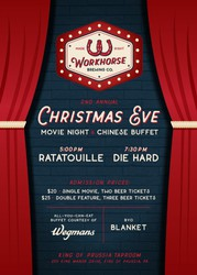 Christmas Eve Movie Night & Chinese Buffet - Workhorse Brewing
