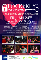 Jan 24th South Jersey Pre-Valentines Lock and Key Singles Event!