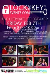 February 7th Philadelphia Pre-Valentines Lock and Key Singles Event!