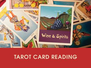 'Wine & Spirits' Tarot Card Reading & Wine Tasting