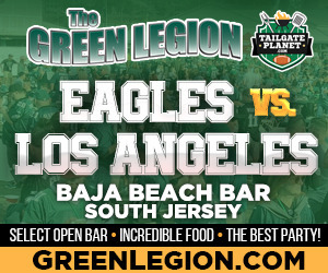 Eagles vs. Los Angeles - South Jersey Eagles Tailgate at Baja Beach in Berlin