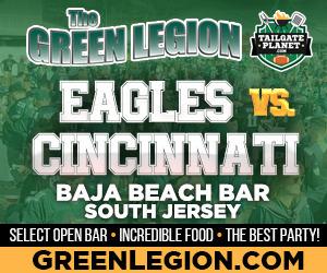 Eagles vs. Cincinnati - South Jersey Eagles Tailgate at Baja Beach in Berlin