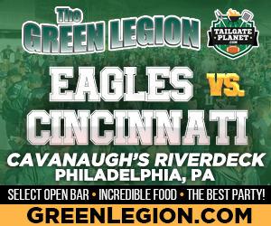 Eagles vs. Cincinnati - Eagles Tailgate at Cavanaugh's Riverdeck