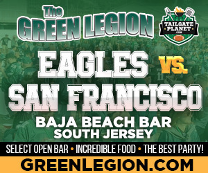 Eagles vs. San Francisco - South Jersey Eagles Tailgate at Baja Beach in Berlin