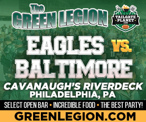 Eagles vs. Baltimore - Eagles Tailgate at Cavanaugh's Riverdeck