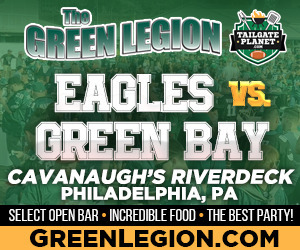 Eagles vs. Green Bay - Eagles Tailgate at Cavanaugh's Riverdeck