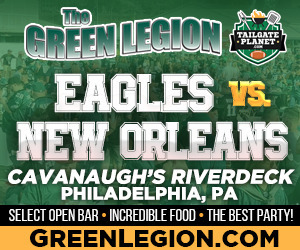Eagles vs. New Orleans - Eagles Tailgate at Cavanaugh's Riverdeck