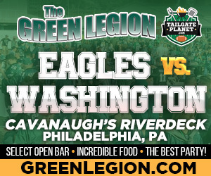 Eagles vs. Washington -  Eagles Tailgate at Cavanaugh's Riverdeck