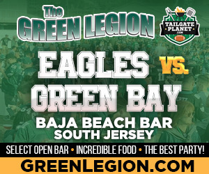Eagles vs. Green Bay - South Jersey Eagles Tailgate at Baja Beach in Berlin