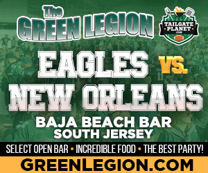 Eagles vs. New Orleans - South Jersey Eagles Tailgate at Baja Beach in Berlin