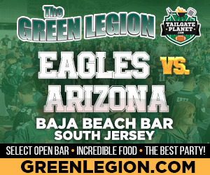 Eagles vs. Arizona - South Jersey Eagles Tailgate at Baja Beach in Berlin