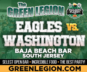 Eagles vs. Washington - South Jersey Eagles Tailgate at Baja Beach in Berlin