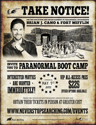 Travel Channel's Brian J. Cano Leads Paranormal Bootcamp at Fort Mifflin!