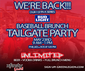 THE GREEN LEGION presents: BUD LIGHT BASEBALL BRUNCH TAILGATE!!