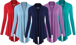 Open Front Cardigan S-3X by Made By Johnny Plus Size Sweater