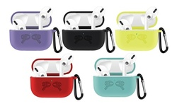 Apple Airpods Pro Silicon Cover Case with Carabiner LED Light Visible