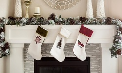 One, Two, Three, Five, or 10 Personalized Velvet-Trimmed Christmas Stockings from Qualtry (Up to 84% Off