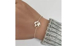 Fashion Women World Map Bracelet Gold Silver Earth Hand Chain