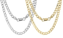5mm Sterling Silver .925 Curb Link Men's Chain