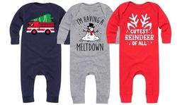 Instant Message: Infant Long Sleeve Christmas Bodysuit