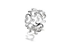925 Sterling Silver Filigree Heart Ring
