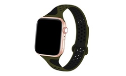 Breathable Silicone Sport Band for Apple Watch Series 1, 2, 3, 4, 5, and Sport