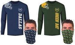 Men's Football Home Team Long-Sleeve Shirt with Gaiter (S-2XL)