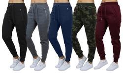Women's Loose-Fitting Fleece Jogger Sweatpants. Plus Sizes Available.