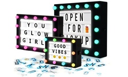 Hearth & Haven Hollywood-Inspired LED Lightbox with Message