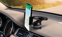 Aduro SlideMount Universal Car Phone Mount with Extendable Arm