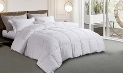 Martha Stewart Cotton White Goose Feather and Down Comforter