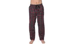 Active Club Men's PJ Pajama Fleece Lounge Plaid Bottoms Pants Microfleece