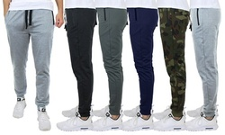 2-Pack Men's Slim-Fit French-Terry Lounge Pants (S-2XL)