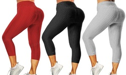 Women's Legging High Waist Yoga Workout Pants Ultra Soft Slim Stretchy Booty