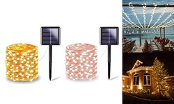 200 LED Solar String Lights Outdoor Waterproof Wire Fairy Christmas Lights