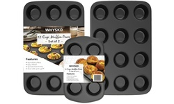 Non-Stick Muffin Pan, Set of 2, Heavy Duty & Easy Release Cupcake Baking Pan