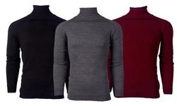 Suslo Couture Men's Slim-Fit Fashion Turtle Neck Sweaters
